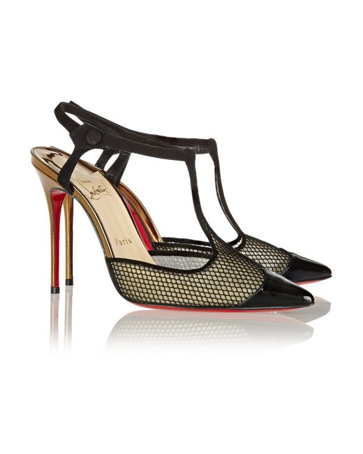 Christian louboutin T Cool Leather and Suede Pumps in Black | Lyst