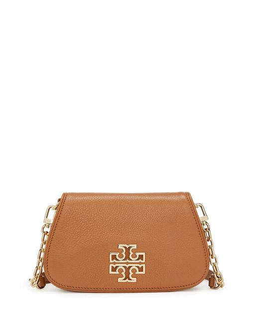 Tory Burch | Brown Britten Mini Cross-body | Lyst