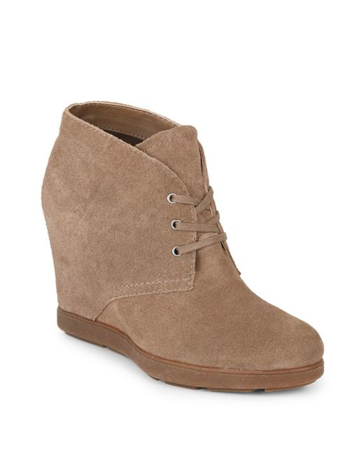 Dolce Vita | Brown Pascola Suede Wedge Booties | Lyst