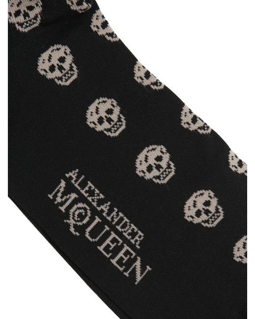 Alexander McQueen | White Skull-patterned Cotton-blend Socks for Men | Lyst