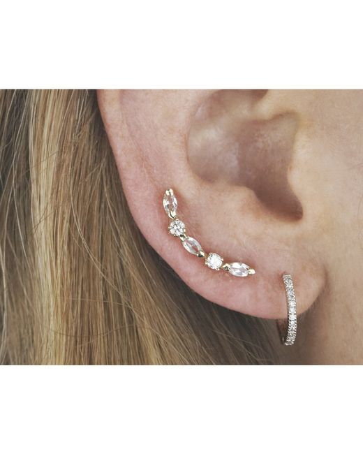 Loren Stewart | Metallic Diamond And Sapphire Ear Pin | Lyst