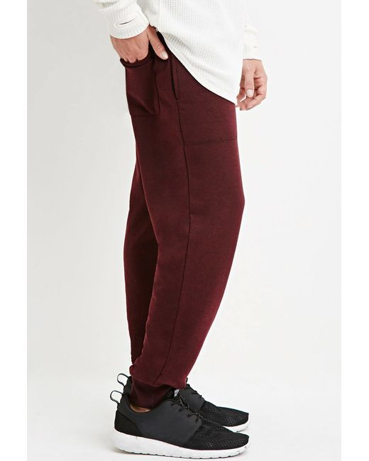 Forever 21   Red Drawstring French Terry Joggers for Men   Lyst