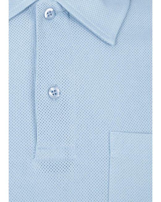Sunspel | Blue Riviera Cottonmesh Polo Shirt for Men | Lyst