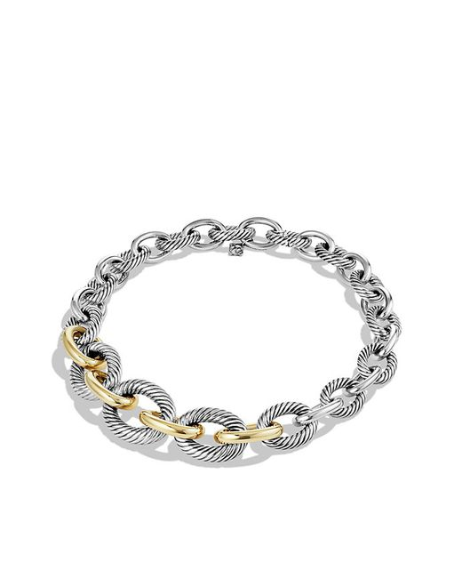 David Yurman | Metallic Medium Oval Chain Necklace With 14k Gold | Lyst