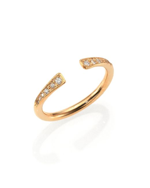 Zoe Chicco | Metallic Diamond & 14K Yellow Gold Finger Cuff Ring | Lyst