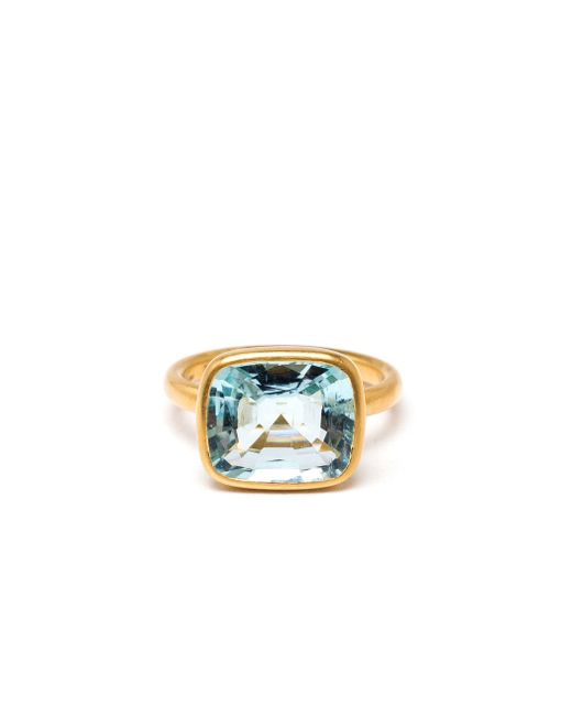 Marie-hélène De Taillac   Blue 22k Yellow Gold Aquamarine Ring   Lyst