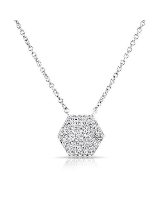 Anne Sisteron | Metallic 14kt White Gold Diamond Honey Necklace | Lyst