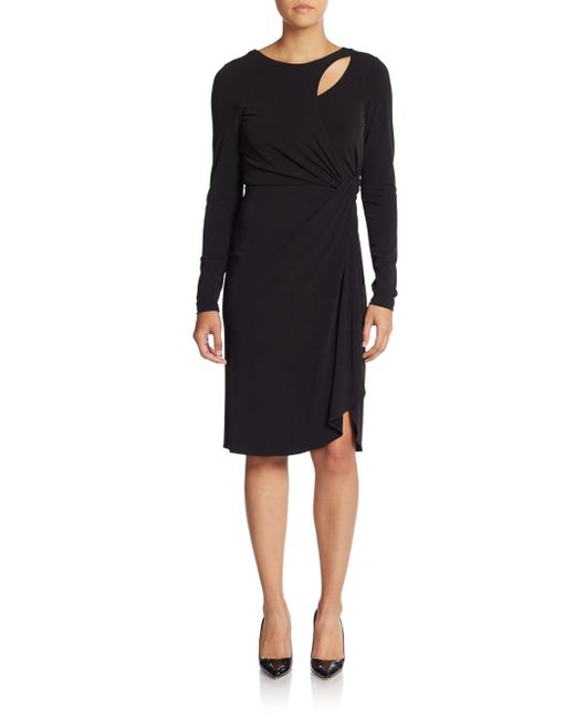Catherine Malandrino | Black Gordo Cutout Jersey Dress | Lyst