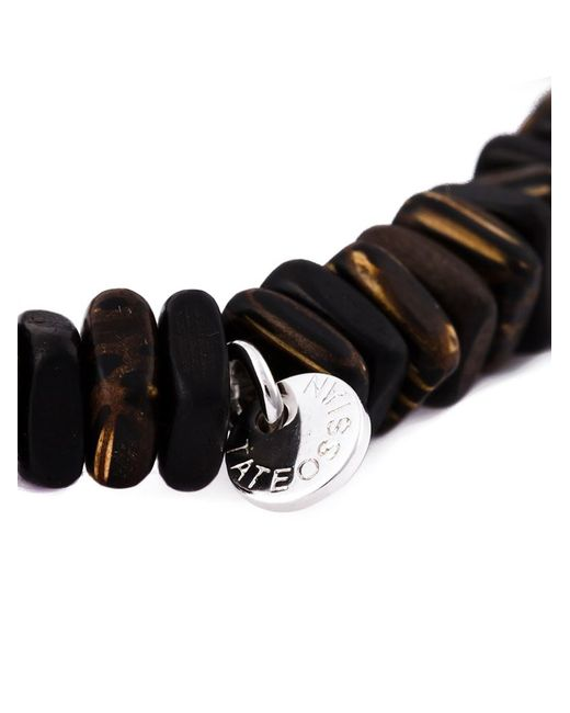 Tateossian | Brown Disk Beaded Bracelet for Men | Lyst