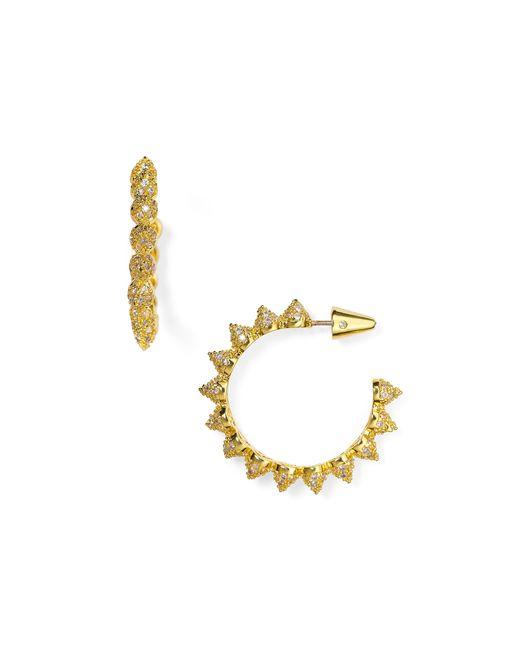Eddie Borgo | Metallic Pave Mini Cone Hoop Earrings | Lyst