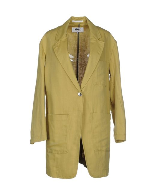MM6 by Maison Martin Margiela | Yellow Overcoat | Lyst