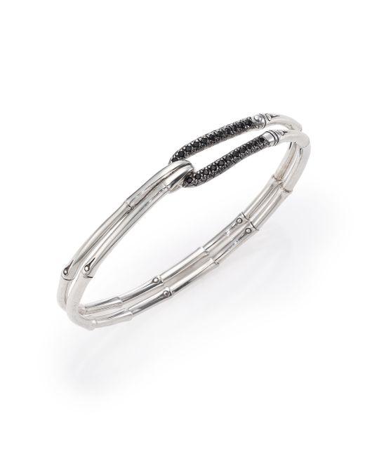 John Hardy | Metallic Bamboo Sapphire & Sterling Silver Hook Bangle Bracelet | Lyst