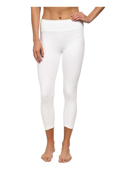Beyond Yoga | White Quilted Capri Legging | Lyst