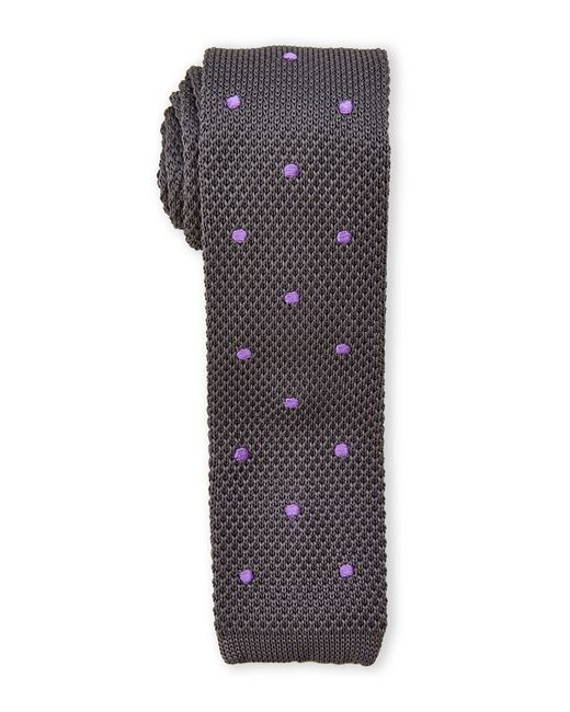 Burma Bibas | Gray Dotted Textured Knit Tie for Men | Lyst