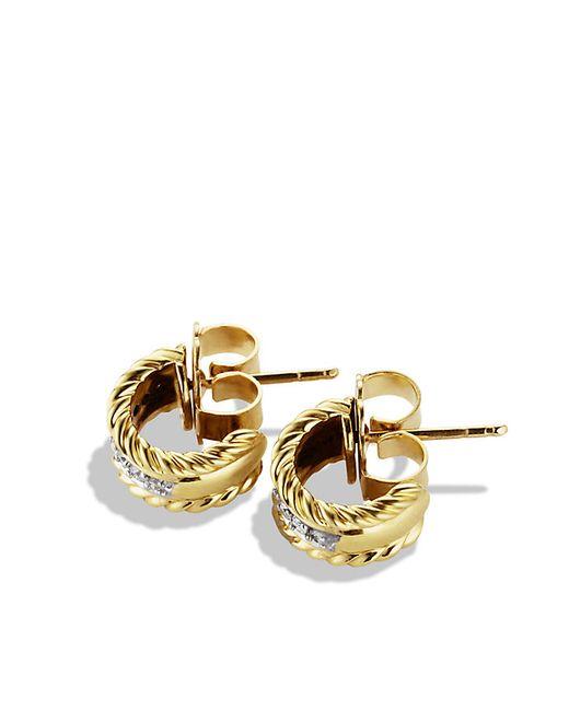 david yurman cable classics earrings with diamonds in 18k