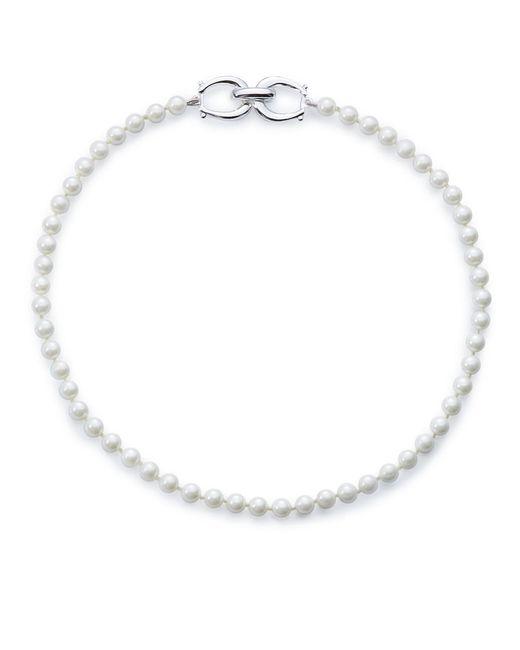 Lauren by Ralph Lauren | White Faux Pearl Choker Necklace - 15 In. | Lyst