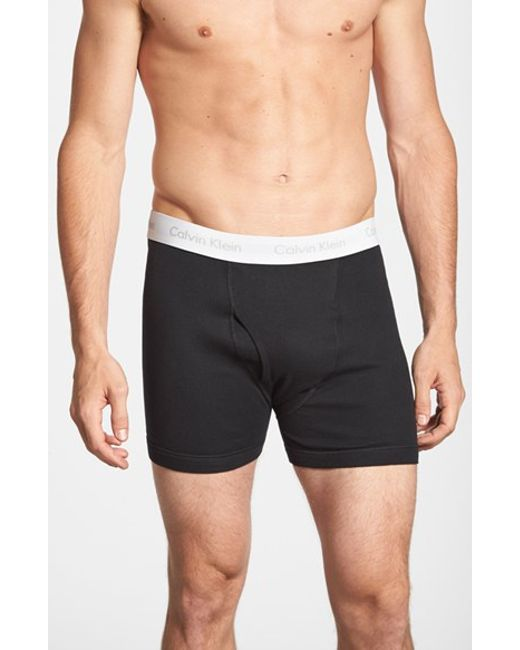 Calvin Klein | 2-pack Boxer Briefs, Black for Men | Lyst