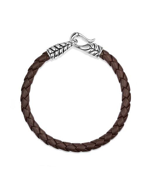 David Yurman | Chevron Woven Leather Bracelet In Brown, 6mm for Men | Lyst