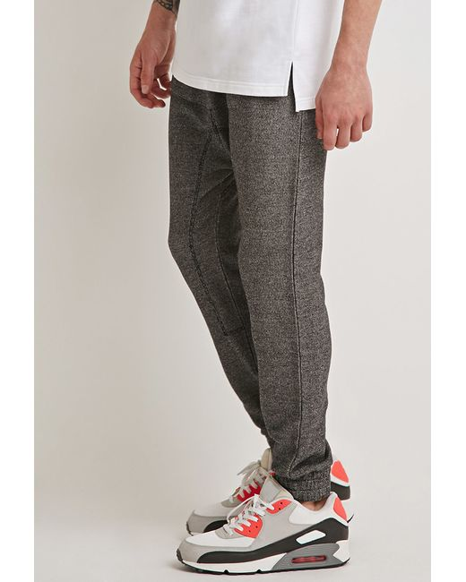 Forever 21 | Gray Kangaroo Pocket Drop-crotch Sweatpants for Men | Lyst