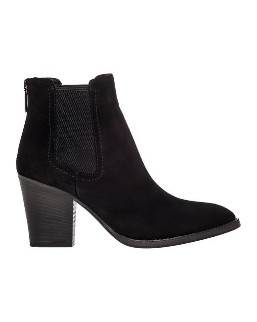 Aquatalia Fairly Suede Ankle Boots In Black Black Suede
