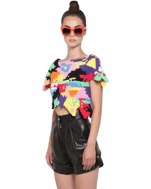 Helen Rodel   Multicolor Hand Crocheted Cotton Sweater   Lyst