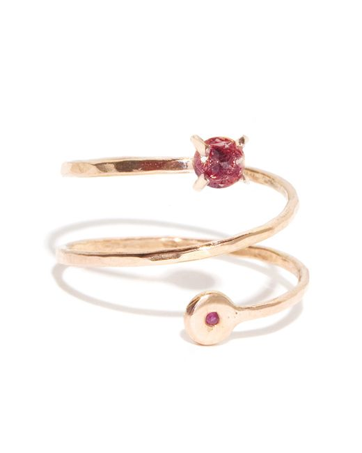 Melissa Joy Manning | Metallic Ruby And Rhodolite Garnet Spiral Ring | Lyst
