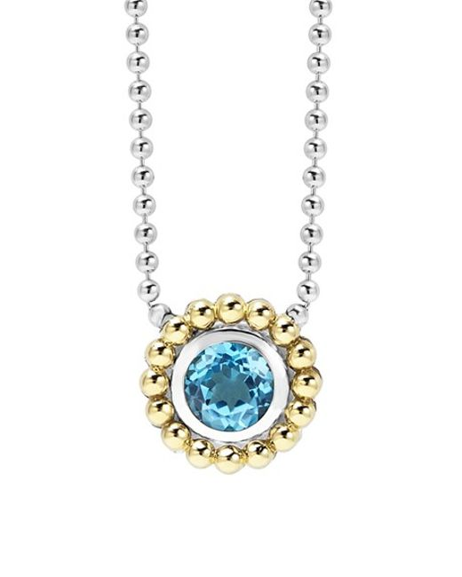 Lagos | Blue Stone Pendant Necklace | Lyst