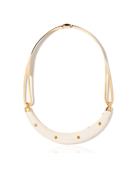 Aurelie Bidermann   Natural Caftan Moon Necklace With Dots   Lyst