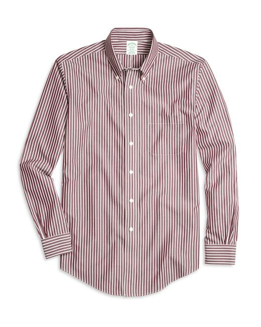 Brooks Brothers | Purple Non-iron Milano Fit Ground Stripe Sport Shirt for Men | Lyst