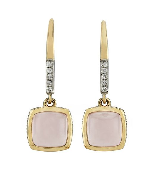 Links of London | Metallic Luna Gems Rose Quartz Drop Earrings | Lyst