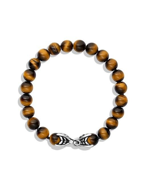 David Yurman | Metallic Spiritual Beads Bracelet With Tiger's Eye, 8mm for Men | Lyst