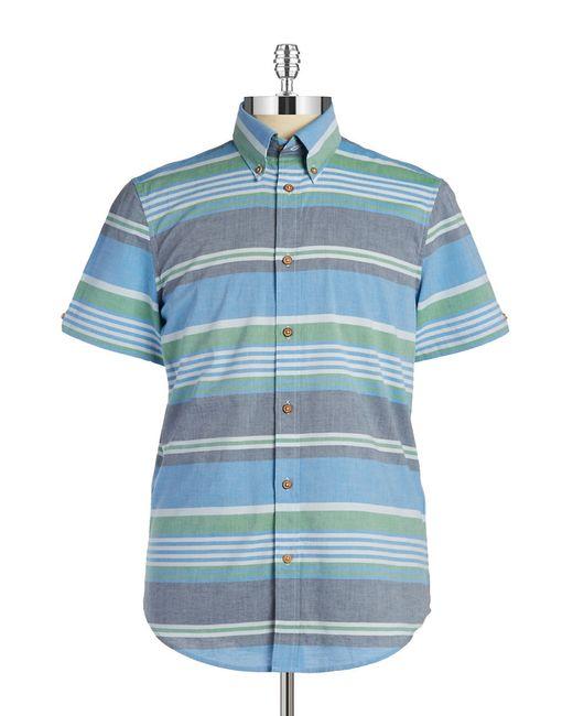 Ben Sherman   Gray Multi-stripe Sportshirt for Men   Lyst