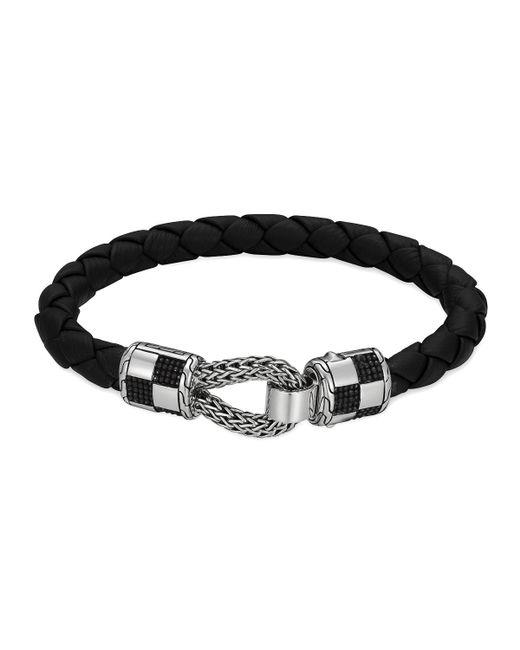 John Hardy Men S Classic Chain Silver Station Bracelet On