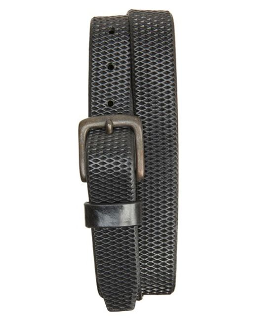 remo tulliani laser cut leather belt in black for lyst