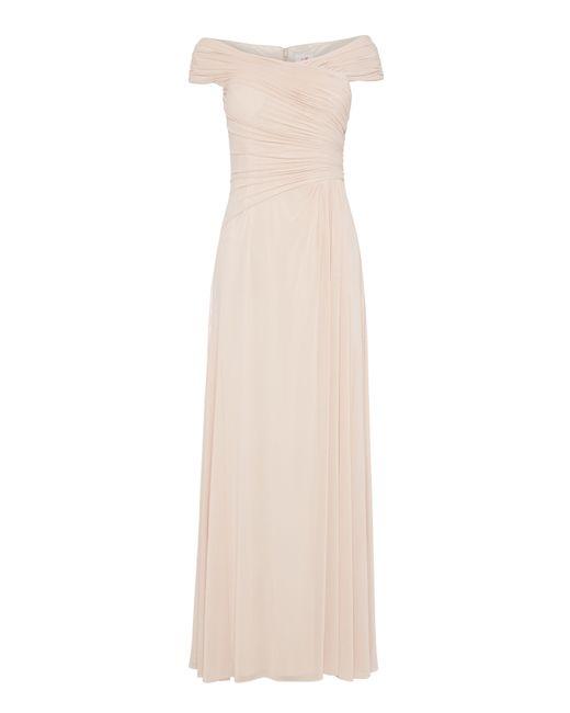 Anoushka G | Pink Mary Mesh Maxi Rushed Dress | Lyst