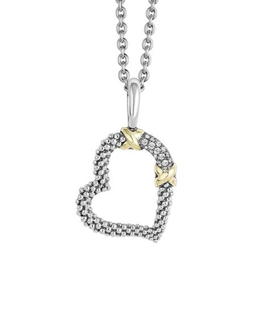 Lagos | Metallic 'diamond Lux' Diamond Heart Pendant Necklace | Lyst