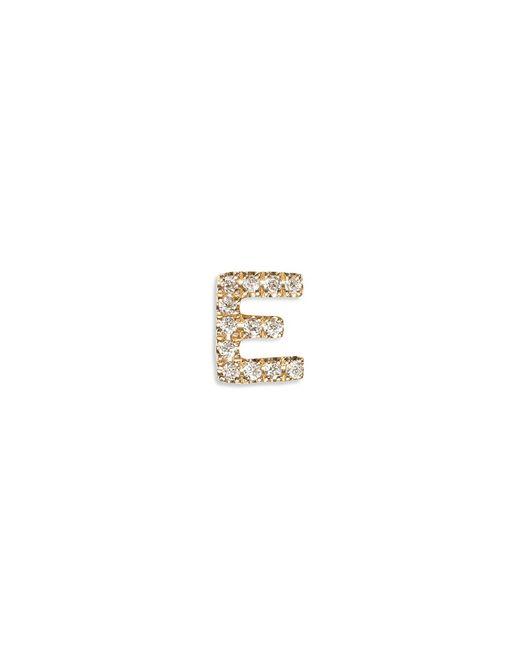 Loquet London | Metallic Diamond 18k Yellow Gold Letter Charm - E | Lyst