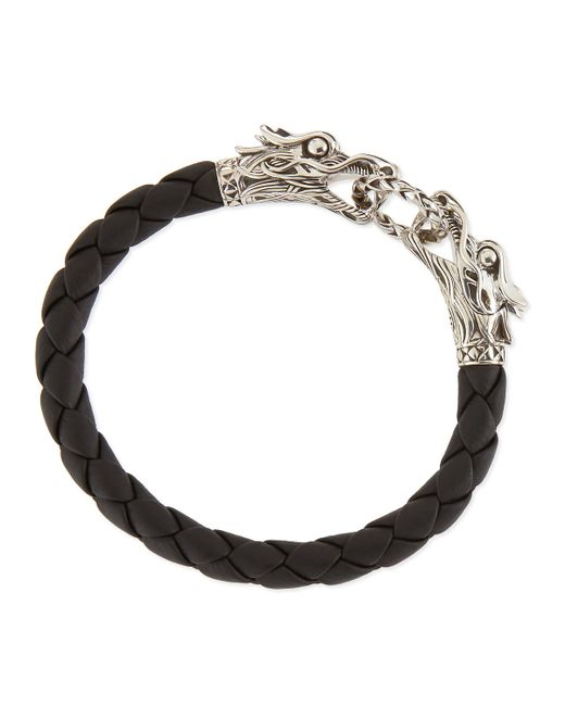 John Hardy | Black Leather Dragon Bracelet | Lyst