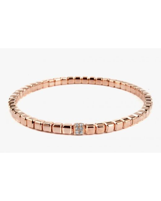 Tateossian   Quadro Cube Bracelet In 18k Rose Gold With White Diamonds for Men   Lyst