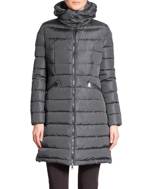 Moncler | Gray Flammette Puffer Jacket | Lyst