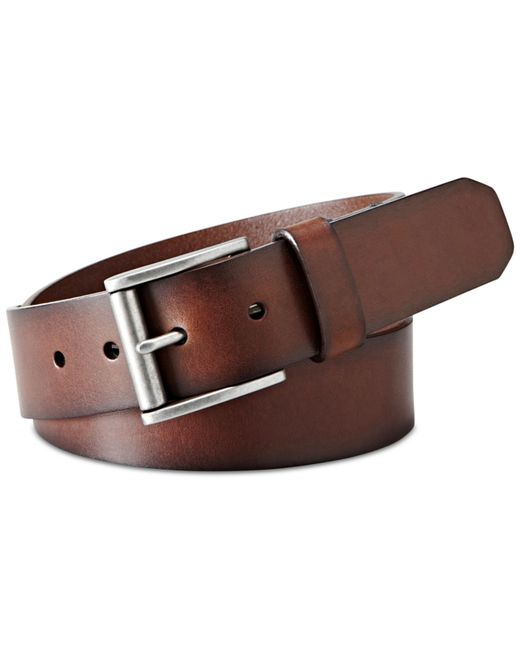 fossil dacey casual leather belt in brown for