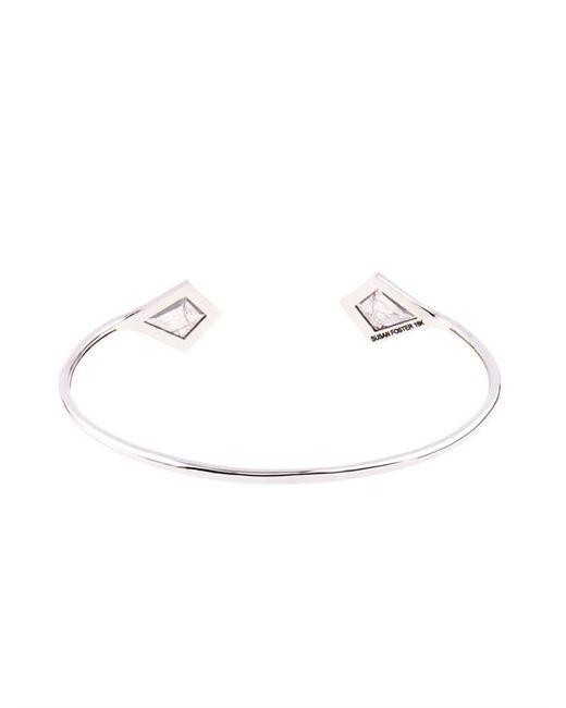 Susan Foster | Metallic Diamond Slice & White-Gold Bracelet | Lyst