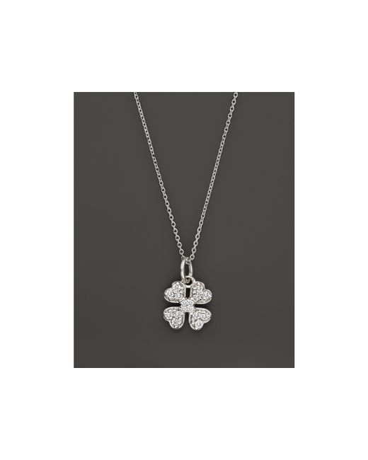 KC Designs | Diamond Clover Pendant Necklace In 14k White Gold, .14 Ct. T.w. | Lyst