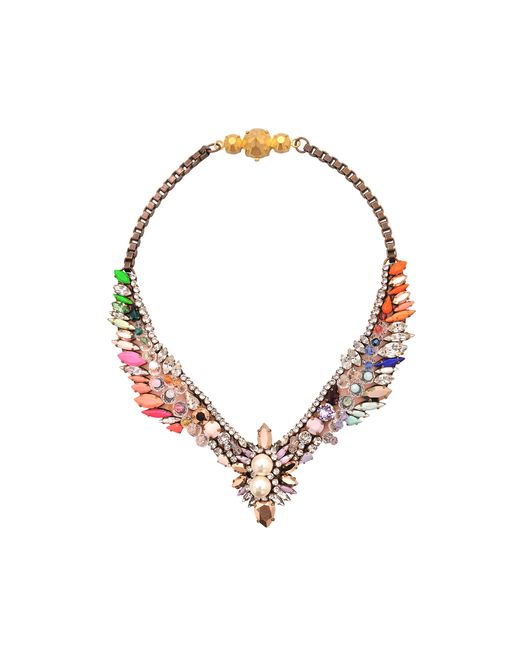Shourouk | Multicolor Tabatha Multi Necklace | Lyst