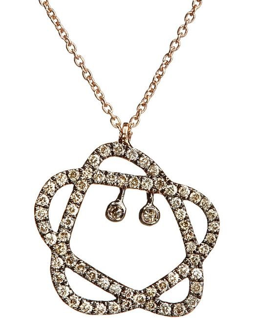 Annoushka | Metallic Sugarplum 18ct Rose-gold And Diamond Pendant Necklace | Lyst