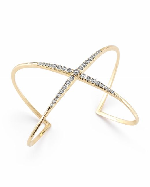 Elizabeth and James | Metallic Windrose Pave Cuff | Lyst