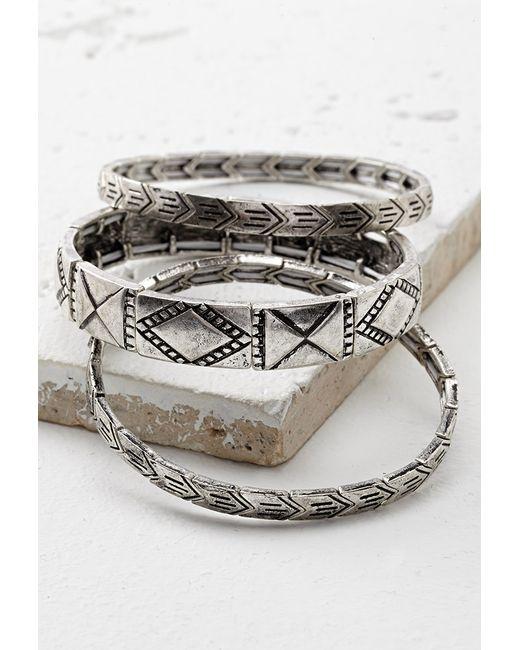 Forever 21 | Metallic Filigree Stretch Bracelet | Lyst