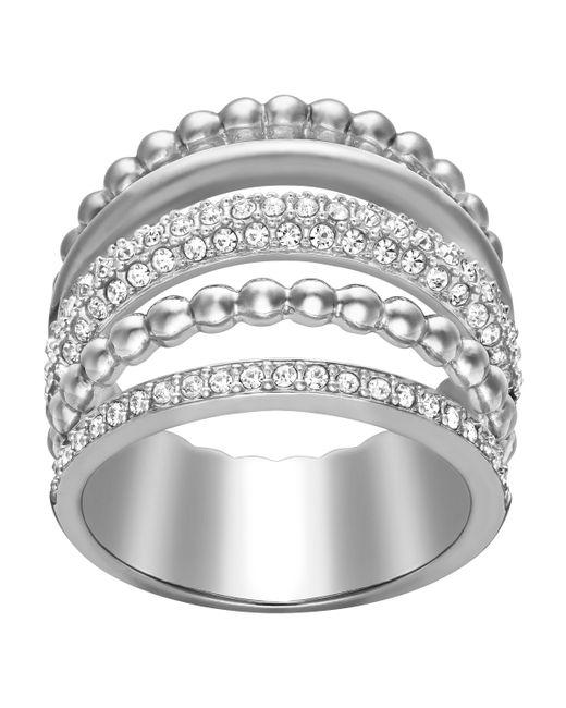 Swarovski | Metallic Click Ring | Lyst