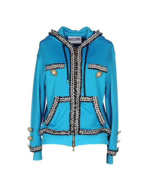 Moschino | Blue Sweatshirt | Lyst