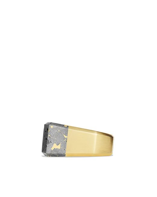 David Yurman | Metallic Fused Meteorite Signet Ring In 18k Gold for Men | Lyst